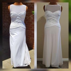 CACHE | Off-white/white dress w/ corset design 10
